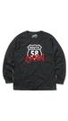 【ルート58 OKNW】長袖コットンTシャツ BLACK