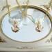 サンゴとガラスのさわやかマリンネックレス ゴールドアンカー