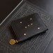 ラウンドファスナー コンパクト財布(ORION ブラック)牛革 ILL-1174