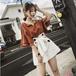 韓国ファッションスウィートフェミニン小柄オシャレ流行り 2点セットアップセットアップ