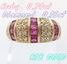 【SOLD OUT】ルビーダイヤモンド デザインリング 0.74ct 0.15ct K18 ~Ruby diamond design ring 0.74ct 0.15ct K18~
