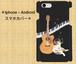 側表面印刷 スマホカバー*iphone・Android*猫*猫とギター*カラーバリエーション《好きな音》