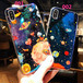 original 星空柄 アイフォンXケース  iphone7 plusケース 星 月 ロケット 天体 オシャレ 夢幻