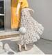 スカート レディース 花柄 ロング丈 シフォン プリーツスカート カジュアル 綺麗め きれい エレガント 上品 可愛い かわいい カワイイ フェミニン ガーリーデイリー デイリー使い お出かけ おでかけ デート 春夏