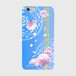 【iPhone6Plus/6sPlus】Peony Dream 芍薬の夢 スカイブルー ツヤありハード型スマホケース