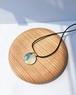 藍染めデニムのネックレス(RN-3)ブルー×金箔
