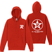R-logo Breast(BKP:All You Need Is Red ver.) / パーカー(White/Red)【送料無料】【Shop限定】