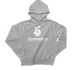 zumaica Wフードプルパーカー Gray【White ロゴ】