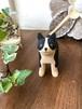 バリ島の木彫り ぽれぽれ動物 ボストンテリア