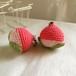 【受注生産】完熟したコーラルピンク色の桃・鈴付きストラップ