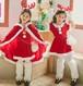 3549クリスマス衣装 キッズ マント ワンピース  コスプレ衣装 コスチューム 仮装 子ども 女の子 子供 衣装 サンタ Xmas 赤