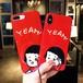オリジナル 可愛い ガール iPhoneXソフトケース YEAH iPhone8/7plus 携帯ケース ペア アイフォン6プラスケース レッド iPhone6s カバー 人気 ストラップ