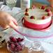 ピスタチオとモレロチェリーのジェラートアイスケーキ