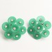 green flower earring[e-831]