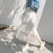スカート 3段 段々 チュール チュールスカート 透け感 こなれ感 ロング丈 春 エアリー ふんわり 上質感