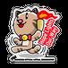 <アクリルバッチ 100×100>聖火みーちゃん