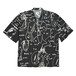 POLAR SKATE CO. ART SHIRT - ALV BLACK WHITE L ポーラー シャツ