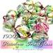 【レア 】アンティーク アイリスガラス★クリスタル カット ビーズ ネックレス 1930s アールデコ 虹色