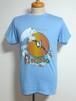 1980's フロリダ リゾートプリントTシャツ 水色 実寸(M~L)