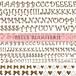 リニューアル☆Cute Initial ブライトゴールド(本金) A4