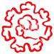 東寺 紋様落款 <MS009> 神紋・寺紋 はんこ (21mm 印鑑)