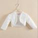 T7202キッズ ボレロ 刺繍 飾り 子供 ドレス 子ども フォーマル カーディガン 女の子ポンチョ キッズ長袖 ボレロ 白色 80cm 90cm-150cm