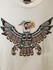 カナダ製 インディアン トリ イラスト Tシャツ ネイティブ タカ ワシ イーグル