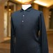 JOHN SMEDLEY WOOL LONG SLEEVE POLO SHIRT BLACK