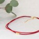◍choker necklace(red)