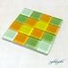 ガラスタイルコースター(marigold)