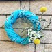 Used bandana wreath