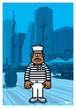 《山本周司 イラストポストカード》CY-4/ 観光クルーズ船員