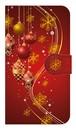 【鏡付き Sサイズ】 Winter Holiday Gorgeous Red ウィンター・ホリデー ゴージャスレッド 手帳型スマホケース