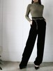 DKNY black velours pants