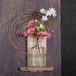 板流木と浜辺の漂着びんの花器-1