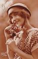 古絵葉書エンタイア「女性」(1925年)