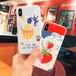 オリジナル iphoneX カバー 果物 いちご パイナツプル 可愛い iphone8 plusケース おしゃれ アイフォン7カバー ブラケット付き スタンド機能  芸能人愛用 送料無料