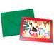 二つ折りカード『黒ネコのクリスマス4』封筒付き