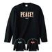 PEACE! (LONG SLEEVE) 黒ボディー(黒/青/赤プリント)