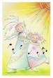 PCS025 「太陽とフルートを吹く女の子」ポストカード24枚セット