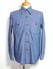 1960's WASHINGTON DEE CEE シャンブレーワークシャツ 実寸(M位)