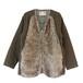 WL Fur×Cotton Wool Jacket(WHITE LINE)