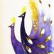 額絵 孔雀七宝額(平面作品)  / peacock