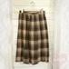 ブラウン系 チェック柄プリーツスカート