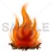 焚き火のイラスト素材 (640×640pixel)ダウンロード商品