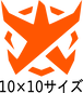 BADFALLロゴステッカー オレンジ10