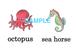 Sea Animals 絵+英単語 フラッシュカードデータ(カラー)