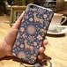 期間限定価格☆送料無料 iPhoneケース iPhone7スマホケース スマホカバー ブルー×ベビーピンク系 バンビフラワーハートバード柄