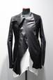 【60%OFF】【MINOAR】 Asymmetry Silver 2B  Leather Jacket (BLK)