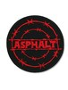 asp-008 アスファルト(ASPHALT)  BARBED WIRE CIRCLE LOGO WAPPEN [red]
